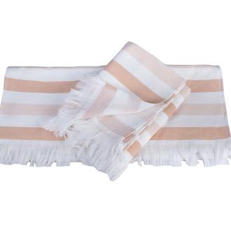 Банное полотенце пештемаль Hobby Home Collection STRIPE хлопок персиковый