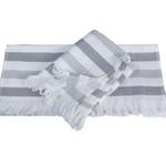 Банное полотенце пештемаль Hobby Home Collection STRIPE хлопок серый 70х140, фото, фотография