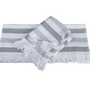 Банное полотенце пештемаль Hobby Home Collection STRIPE хлопок серый 70х140