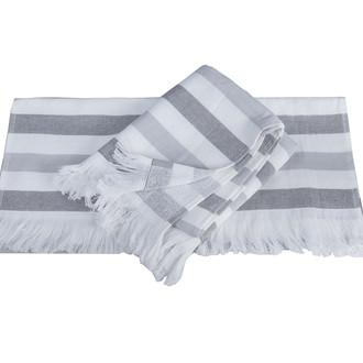 Банное полотенце пештемаль Hobby Home Collection STRIPE хлопок серый