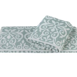 Полотенце для ванной Hobby Home Collection VALENSIYA хлопковая махра зелёный