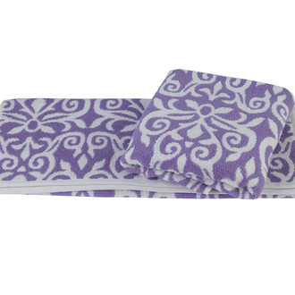 Полотенце для ванной Hobby Home Collection VALENSIYA хлопковая махра лиловый
