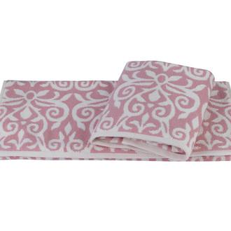 Полотенце для ванной Hobby Home Collection VALENSIYA хлопковая махра (розовый)