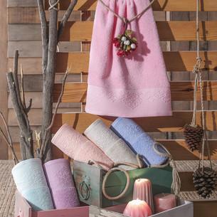 Полотенце для ванной Hobby Home Collection ALICE хлопковая махра пудра 100х150