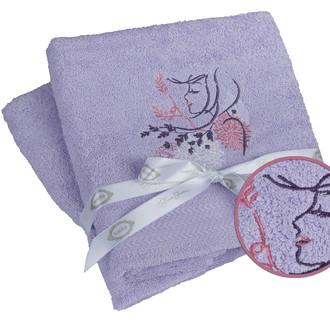 Набор полотенец для ванной 50*90(2) Hobby Home Collection LOVE хлопковая махра (лиловый)