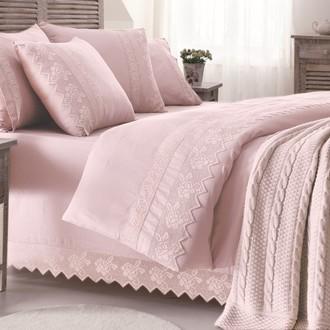 Плед-покрывало Gelin Home ERGUVAN хлопок тёмно-розовый
