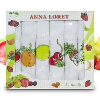 Набор кухонных полотенец 40*60(6) Ceylin's ANNA LORET 8058 хлопковая вафля (04)