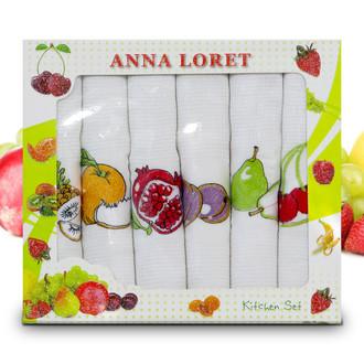 Набор кухонных полотенец 40*60(6) Ceylin's ANNA LORET 8058 хлопковая вафля (02)