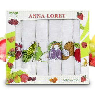 Набор кухонных полотенец 40*60(6) Ceylin's ANNA LORET 8058 хлопковая вафля (03)