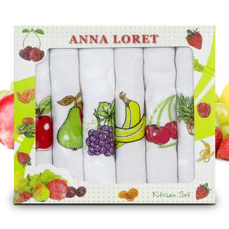 Набор кухонных полотенец 40*60(6) Ceylin's ANNA LORET 8058 хлопковая вафля (01)