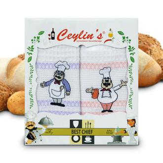 Набор кухонных полотенец 50*70(4) Ceylin's 8054 хлопковая вафля (06)
