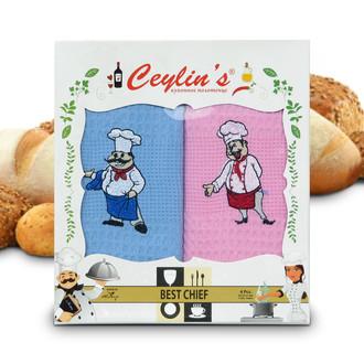 Набор кухонных полотенец 50*70(4) Ceylin's 8054 хлопковая вафля (01)