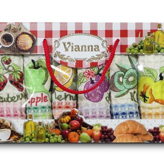 Набор кухонных полотенец 35*50(6) Vianna LUXURY хлопковая вафля (07)