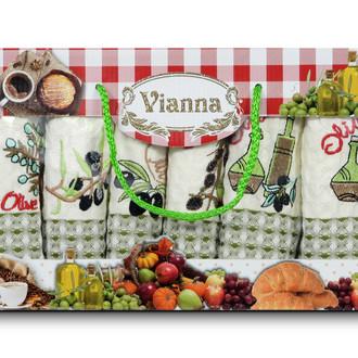 Набор кухонных полотенец 35*50(6) Vianna LUXURY хлопковая вафля (08)