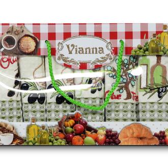 Набор кухонных полотенец 35*50(6) Vianna LUXURY хлопковая вафля (02)
