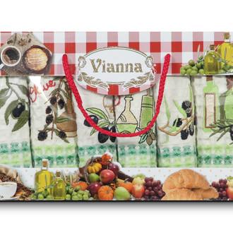 Набор кухонных полотенец 35*50(6) Vianna LUXURY хлопковая вафля (04)