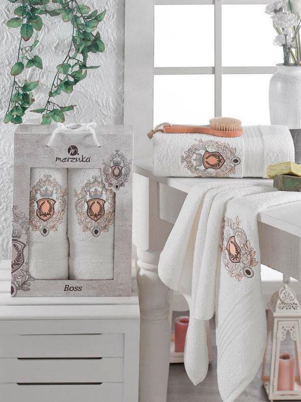 Набор полотенец для ванной 50*80, 70*130 Merzuka BOSS 8004 хлопковая махра 07, фото, фотография