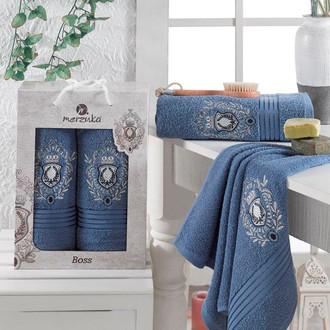 Набор полотенец для ванной 50*80, 70*130 Merzuka BOSS 8004 хлопковая махра (04)