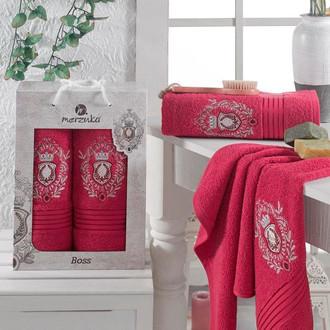 Набор полотенец для ванной 50*80, 70*130 Merzuka BOSS 8004 хлопковая махра (03)