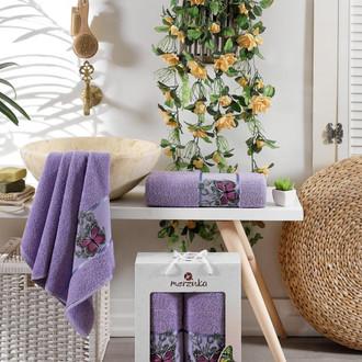 Набор полотенец для ванной 50*80, 70*130 Merzuka BUTTERFLY 8012 хлопковая махра (09)