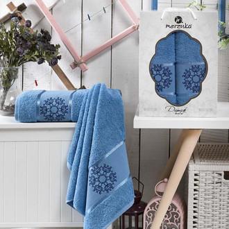 Набор полотенец для ванной 50*80, 70*130 Merzuka DAMASK 8011 хлопковая махра (05)