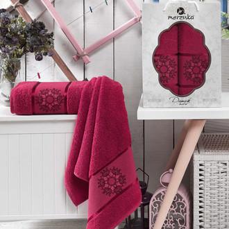 Набор полотенец для ванной 50*80, 70*130 Merzuka DAMASK 8011 хлопковая махра (06)