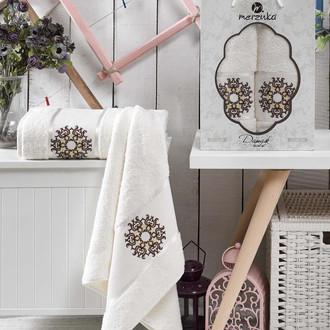 Набор полотенец для ванной 50*80, 70*130 Merzuka DAMASK 8011 хлопковая махра (07)
