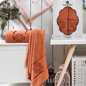 Набор полотенец для ванной 50*80, 70*130 Merzuka DAMASK 8011 хлопковая махра (04)