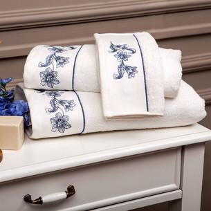 Набор полотенец для ванной 3 пр. Tivolyo Home ANEMON хлопковая махра кремовый