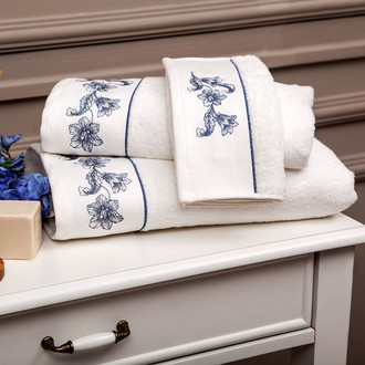 Набор полотенец для ванной 3 пр. Tivolyo Home ANEMON хлопковая махра (кремовый)