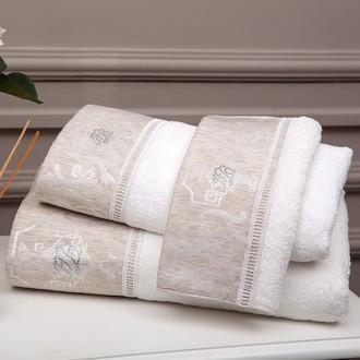 Набор полотенец для ванной 3 пр. Tivolyo Home EMPERIUM хлопковая махра