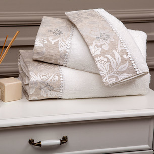 Набор полотенец для ванной 3 пр. Tivolyo Home FORTUNY хлопковая махра