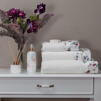 Набор полотенец для ванной 3 пр. Tivolyo Home ROSELAND хлопковая махра (кремовый)