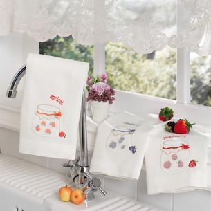 Подарочный набор кухонных полотенец Tivolyo Home JAMS хлопковая вафля