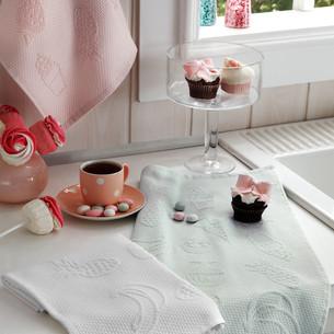 Подарочный набор кухонных полотенец Tivolyo Home LEMON хлопковая вафля