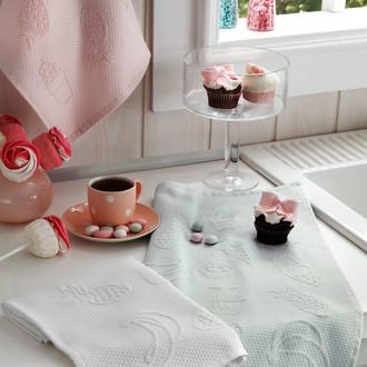 Набор кухонных полотенец Tivolyo Home LEMON хлопковая вафля