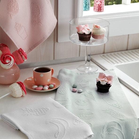 Набор кухонных полотенец Tivolyo Home LEMON хлопковая вафля, фото, фотография