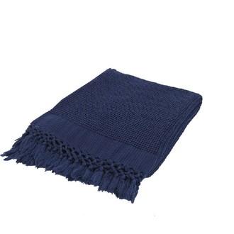 Плед-полотенце Buldan's BOHEM (синий)