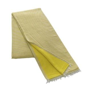 Полотенце-палантин пештемаль Buldan's TRENDY хлопок жёлтый 90х150
