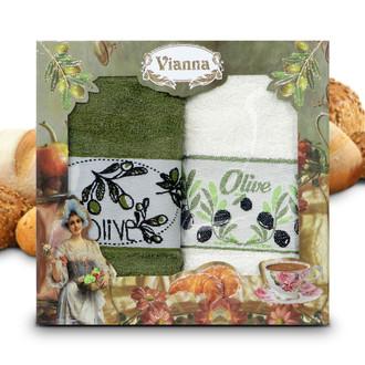 Набор кухонных полотенец 50*70(2) Vianna 8064 хлопковая махра (03)