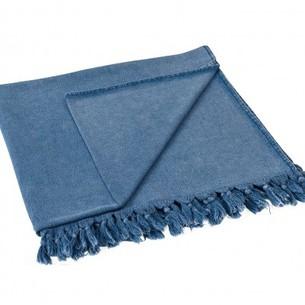 Полотенце-палантин пештемаль Buldan's GAIA TERY хлопок голубой 90х170