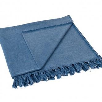 Полотенце-палантин (пештемаль) Buldan's GAIA TERY хлопок (голубой)