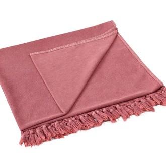 Полотенце-палантин (пештемаль) Buldan's GAIA TERY хлопок (тёмно-розовый)