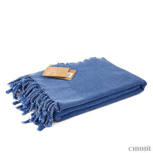 Полотенце-палантин пештемаль Buldan's GOLGE хлопок синий 90х170