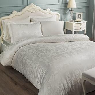 Комплект постельного белья Tivolyo Home GRANT бамбуковый сатин-жаккард (кремовый)