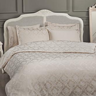 Комплект постельного белья Tivolyo Home HAMPTON бамбуковый сатин-жаккард (бежевый)