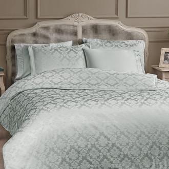 Комплект постельного белья Tivolyo Home HAMPTON бамбуковый сатин-жаккард (бирюзовый)