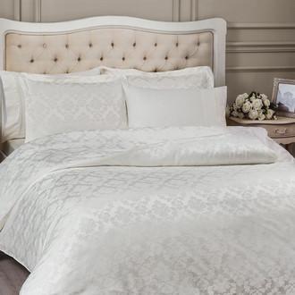 Комплект постельного белья Tivolyo Home HAMPTON бамбуковый сатин-жаккард (кремовый)