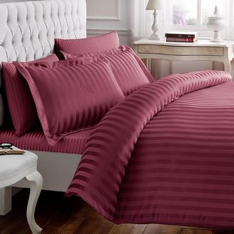 Комплект постельного белья Tivolyo Home NEW JACQUARD бамбуковый сатин-жаккард (бордовый)