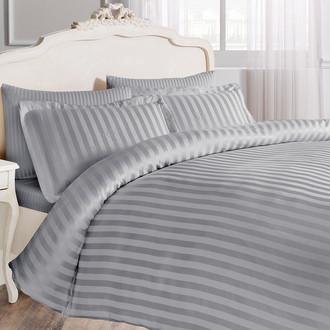 Комплект постельного белья Tivolyo Home NEW JAQUARD бамбуковый сатин-жаккард (серый)
